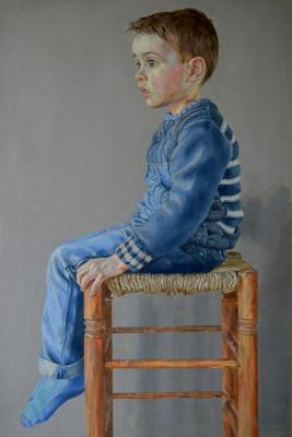 Boy in Blue 100 x 80 Oil